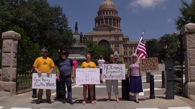 Impeach Obama NOW! Protest - Texas State Capitol