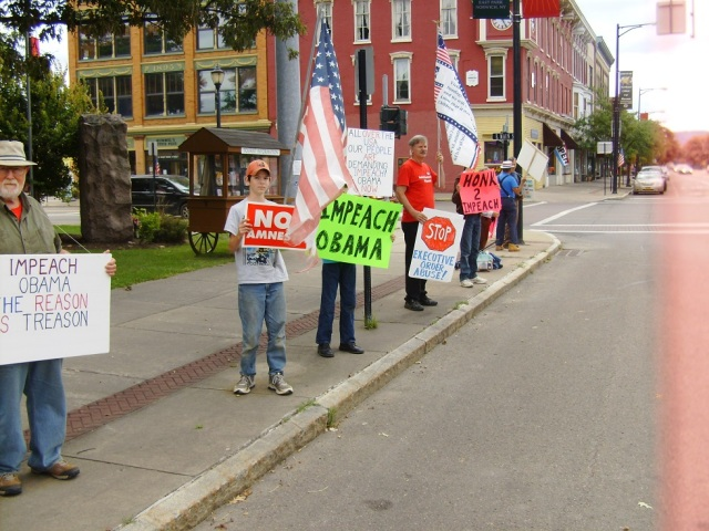 """Impeach Obama"" Protest  Norwich, New York"