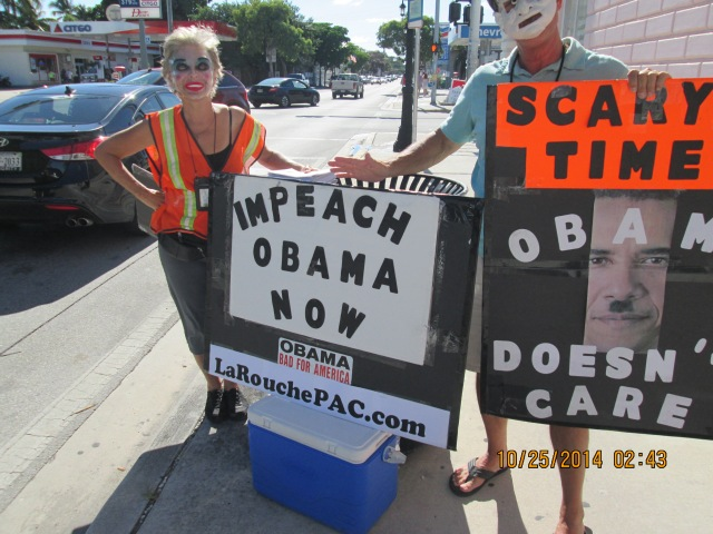 Impeach Obama NOW! Protest in Key West, Florida (10/25/2014)